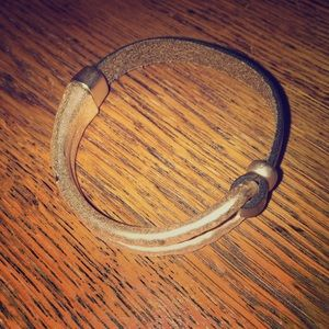 Jewelry - Bronze and Leather magnetic bracelet